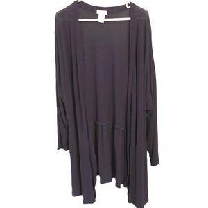 Isela Woman Cardigan Sweater Open Front Semi Sheer